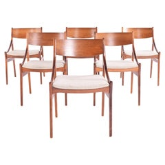 Midcentury Rosewood Dinning Chairs by Vestervig Erikson for Brdr. Tromborg