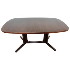 Midcentury Rosewood Extendable Dining Table by Niels Koefoeds Hornslet