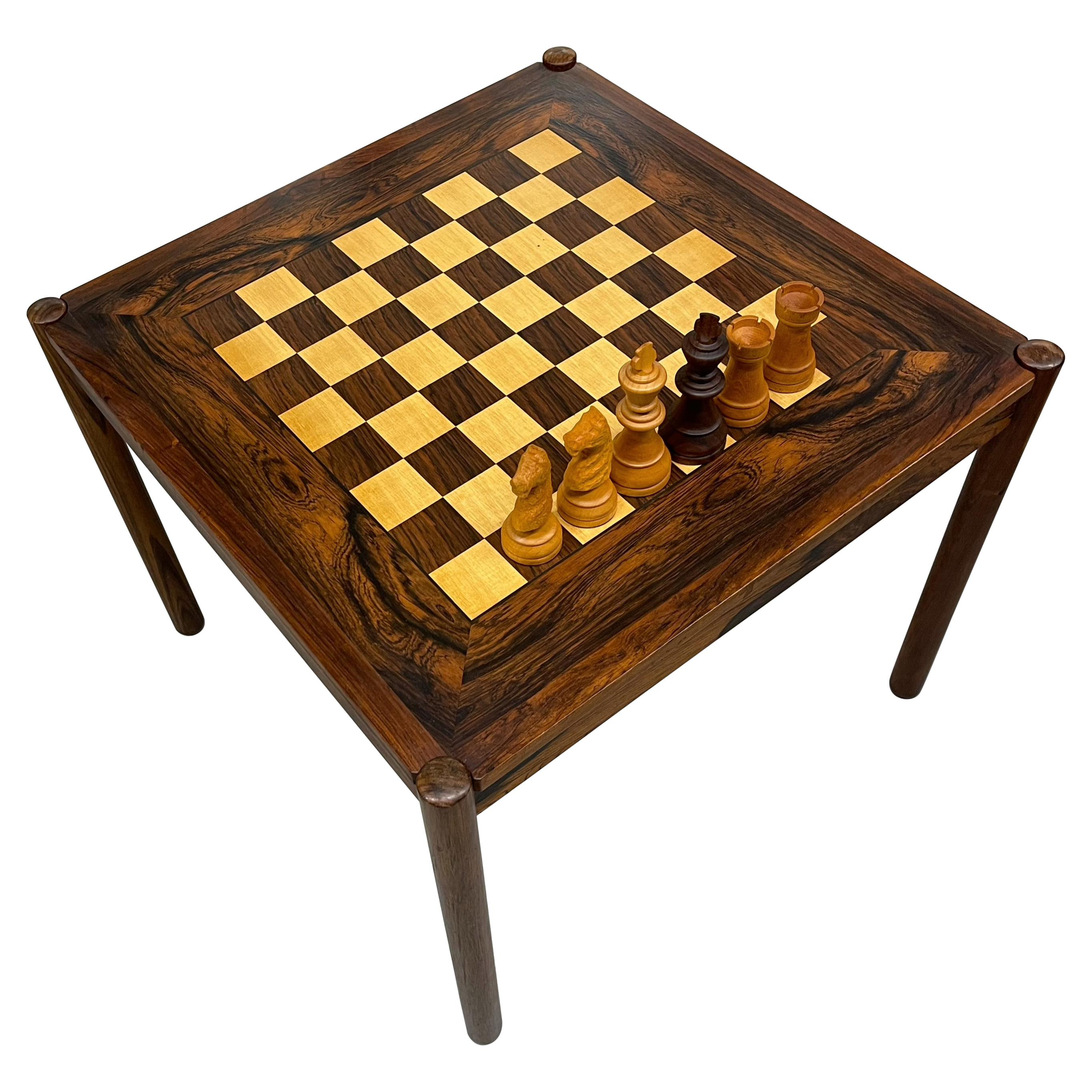 Mid Century Rosewood Game Table