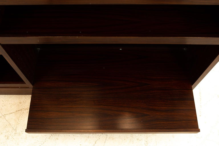 Midcentury Rosewood Media Cabinet Credenza For Sale 4
