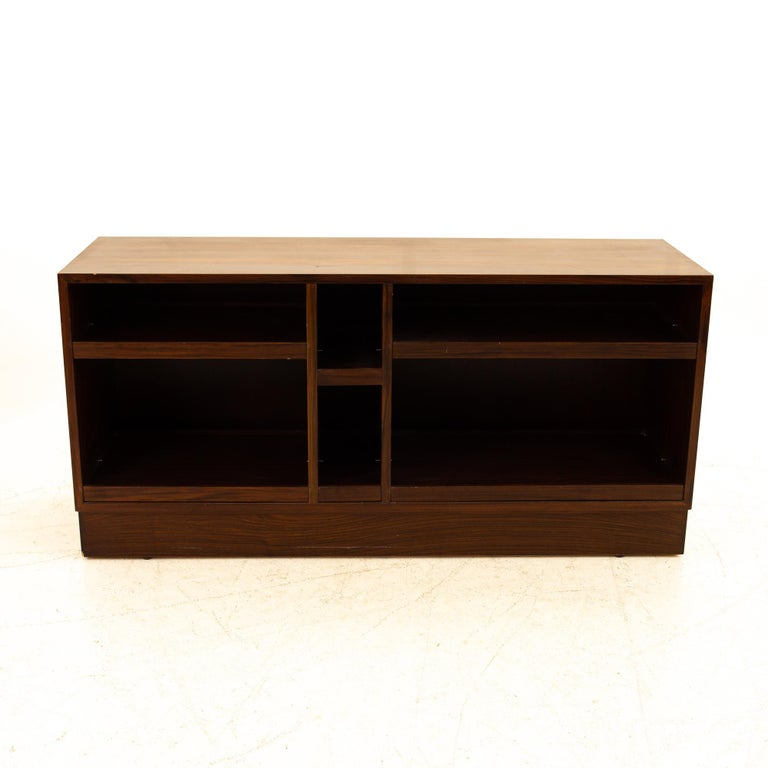 Midcentury rosewood media cabinet credenza
