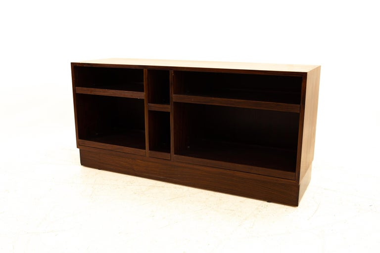 Mid-Century Modern Midcentury Rosewood Media Cabinet Credenza For Sale