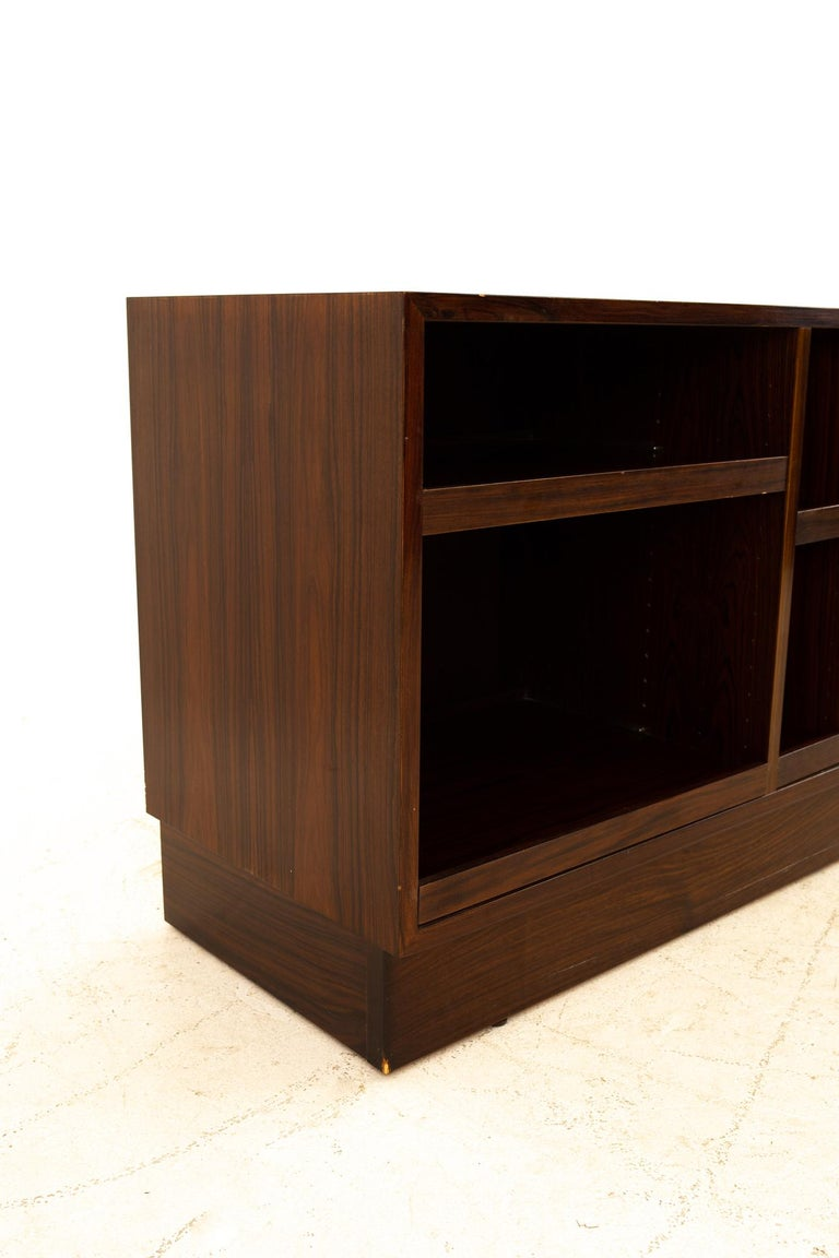 American Midcentury Rosewood Media Cabinet Credenza For Sale