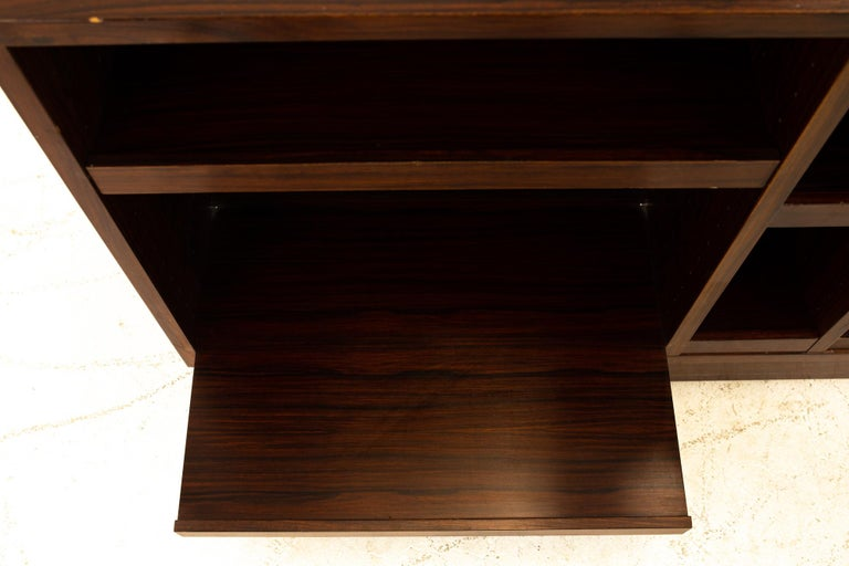 Midcentury Rosewood Media Cabinet Credenza For Sale 2
