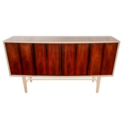 Midcentury Rosewood Sideboard Attributed to Henning Kjaernulf for Bruno Hansen