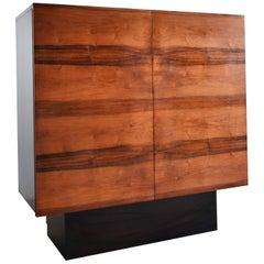 Midcentury Rosewood Sideboard Buffet Cabinet, Minimalist Design, 1970s