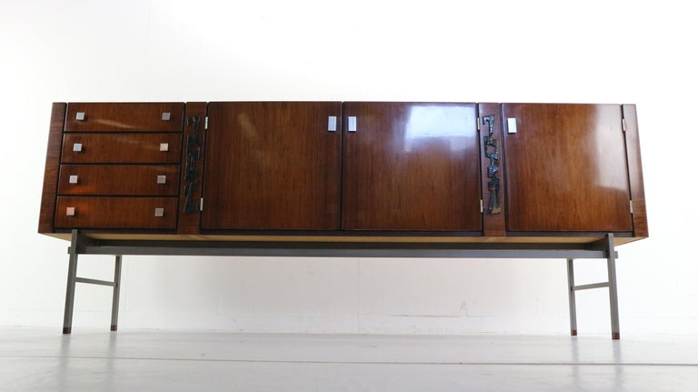 Mid Century Rosewood Sideboard By Alfred Hendrickx For Belform