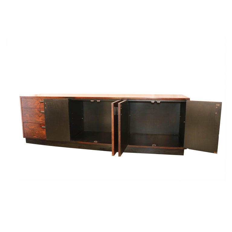 Danish Midcentury Rosewood Sideboard Milo Baughman Style For Sale