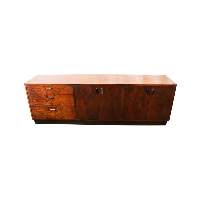 Midcentury Rosewood Sideboard Milo Baughman Style For Sale