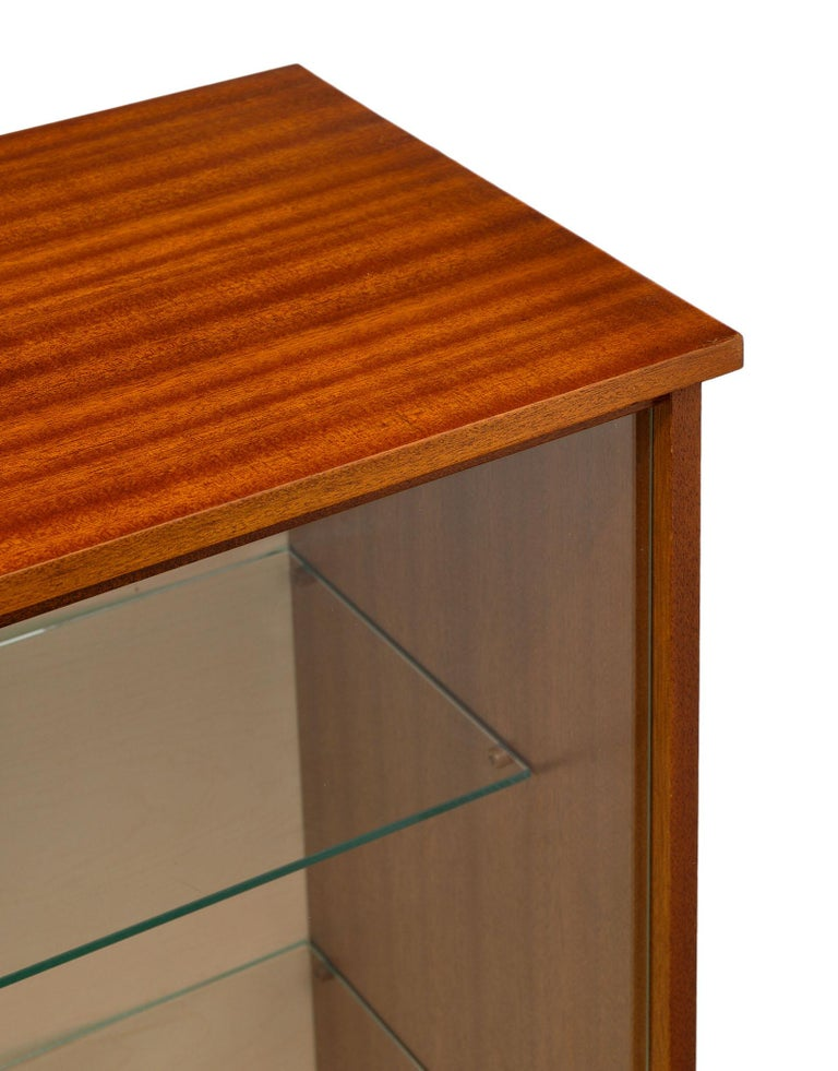 Mid-Century Modern Mid-Century Rosewood Silver Cabinet For Sale