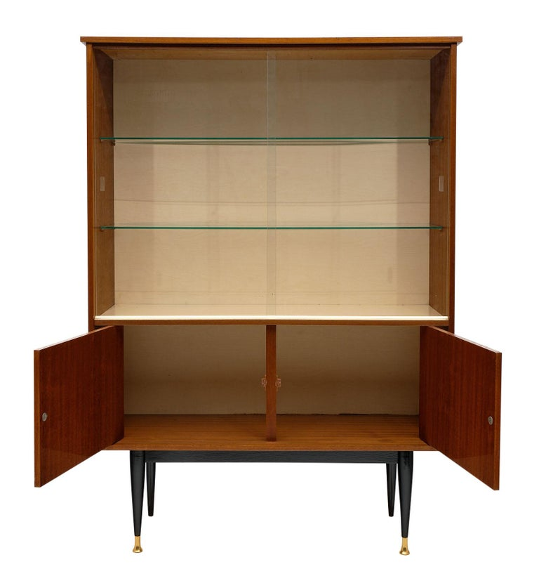 Mid-Century Rosewood Silver Cabinet In Good Condition For Sale In Austin, TX