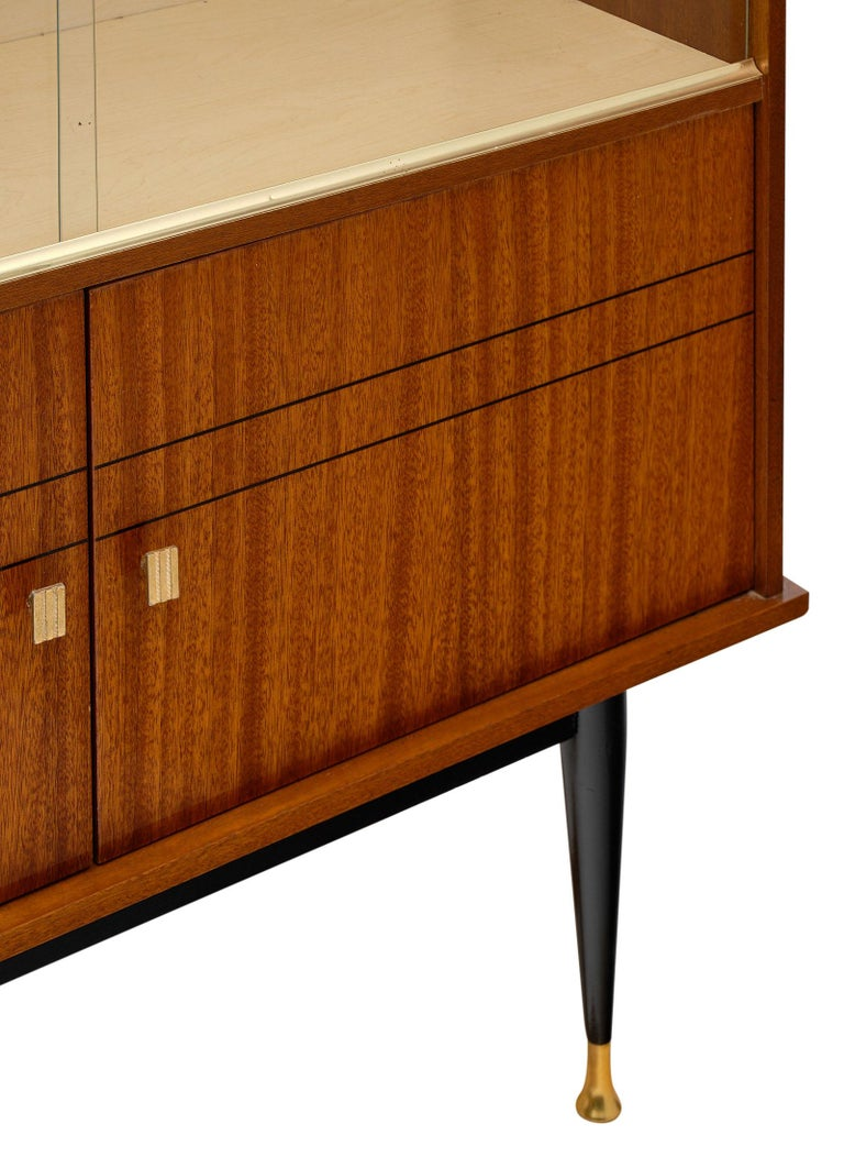 Mid-20th Century Mid-Century Rosewood Silver Cabinet For Sale