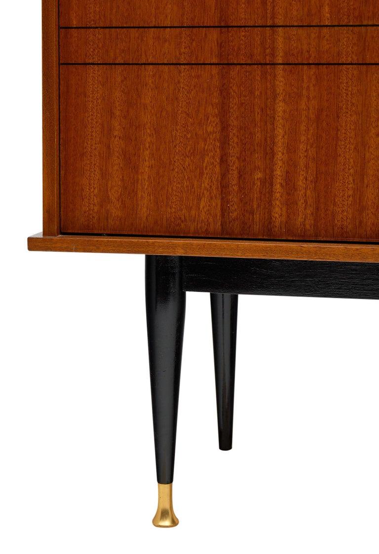 Mid-Century Rosewood Silver Cabinet For Sale 1
