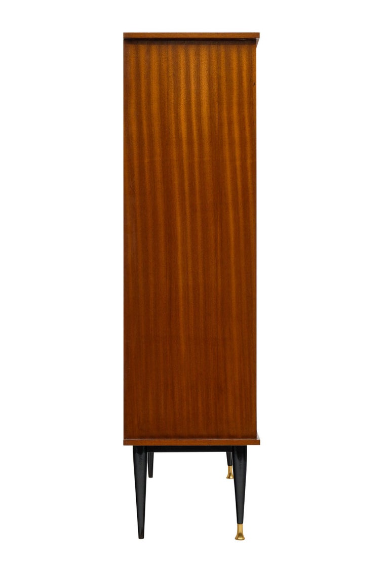 Mid-Century Rosewood Silver Cabinet For Sale 2