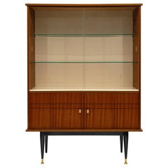 Mid-Century Rosewood Silver Cabinet