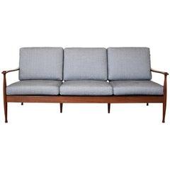 Midcentury Rosewood Three-Seat Sofa, Denmark, circa 1965