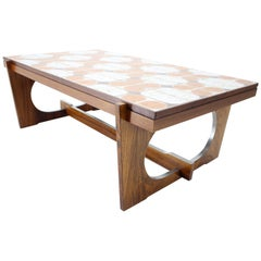 Midcentury Rosewood Tile Coffee Table, Denmark, 1970s