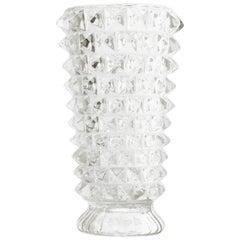 Midcentury Rostrato Glass Vase, 1930s