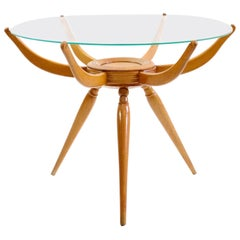 Mid Century Round Coffee Table by Carlo de Carli, Italy
