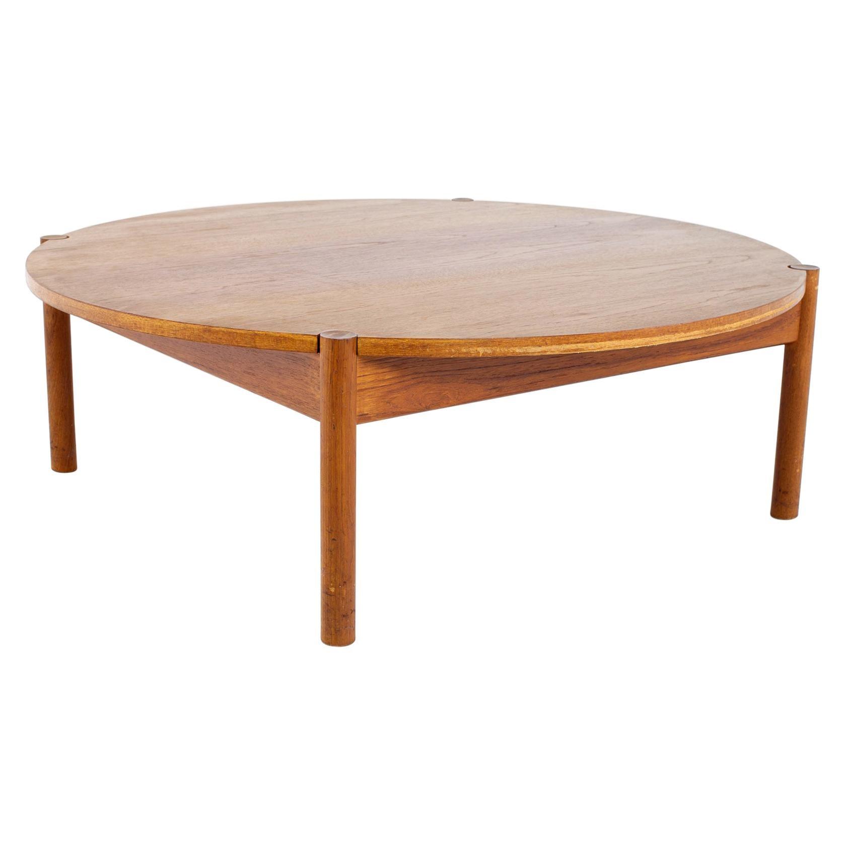 Mid Century Round Danish Coffee Table