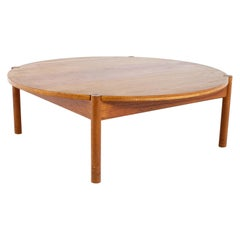 Mid Century Round Danish Coffee Table