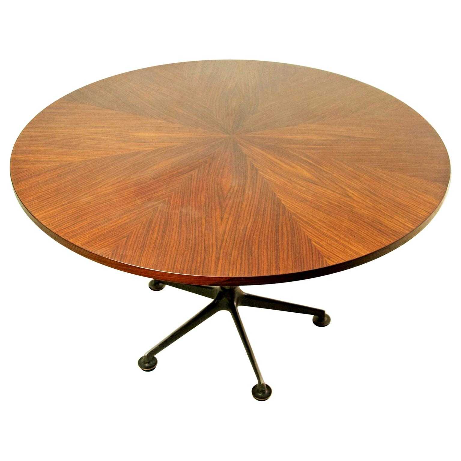Mid Century Round Dining Table by Ico Parisi for MIM Roma