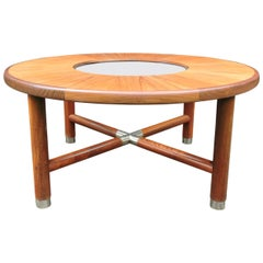 Midcentury Round Teak and Glass Coffee Table from G-Plan