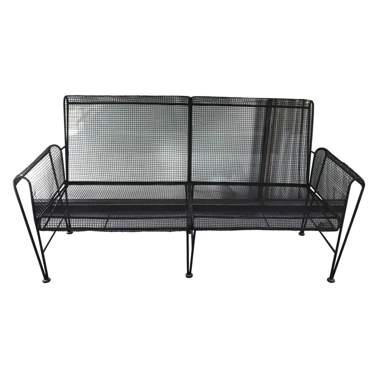 Mid Century Modern Russell Woodard Sculptura Patio Sofa, Early Production, 1950s For Sale