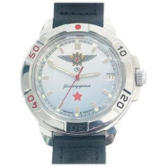 Mid Century Russian Watch by Vostok Military symbols