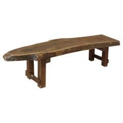 Midcentury Rustic Log Plank Coffee Table