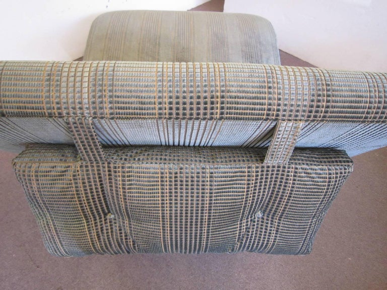 Midcentury Quot S Quot Curve Newly Upholstered Two Person Lounge