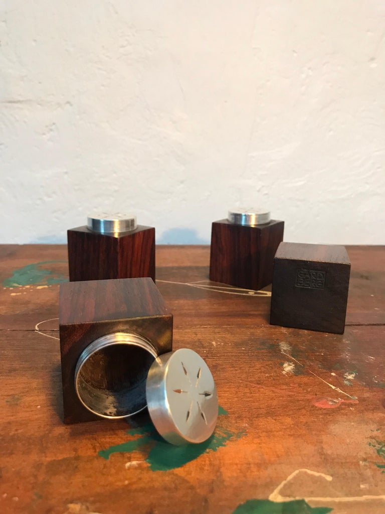 Mid-20th Century Midcentury Salt and Pepper Shakers in Sterling Sliver For Sale