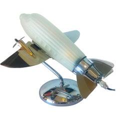Midcentury Sarsparilla Co. Airplane Lamp Light