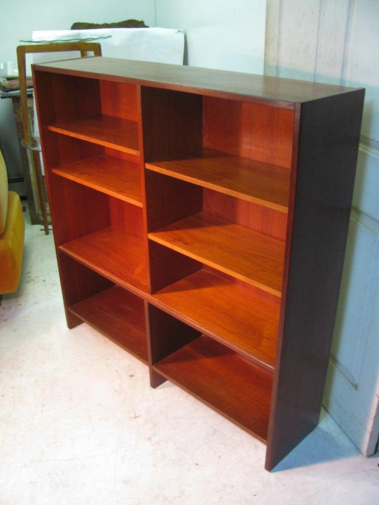 Mid-20th Century Mid Century Scandanavian Teak Bookcase with Glass Doors For Sale
