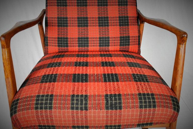 Midcentury Scandinavian Beechwood Rocking Chair, 1960s 6