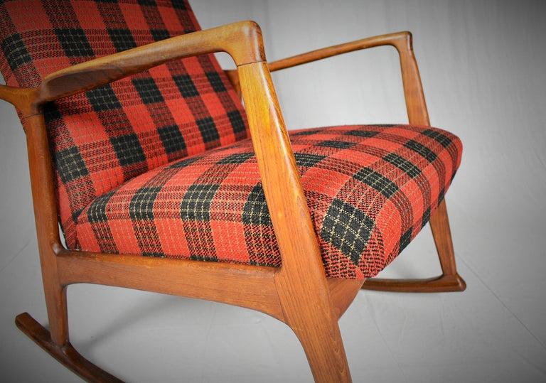 Scandinavian Modern Midcentury Scandinavian Beechwood Rocking Chair, 1960s
