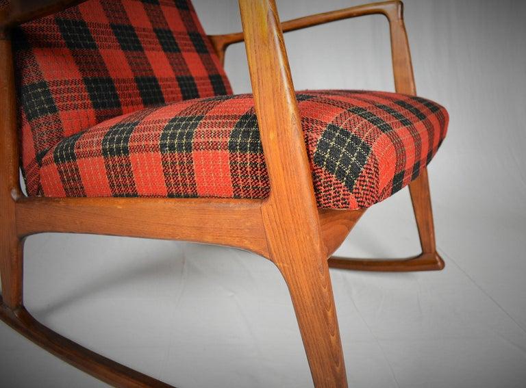 Danish Midcentury Scandinavian Beechwood Rocking Chair, 1960s