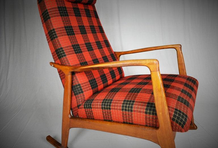 Mid-20th Century Midcentury Scandinavian Beechwood Rocking Chair, 1960s