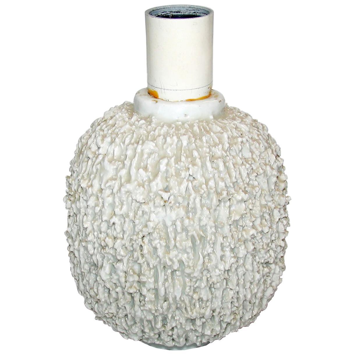Midcentury Scandinavian Ceramic Chamotte Table Lamp by Gunnar Nylund