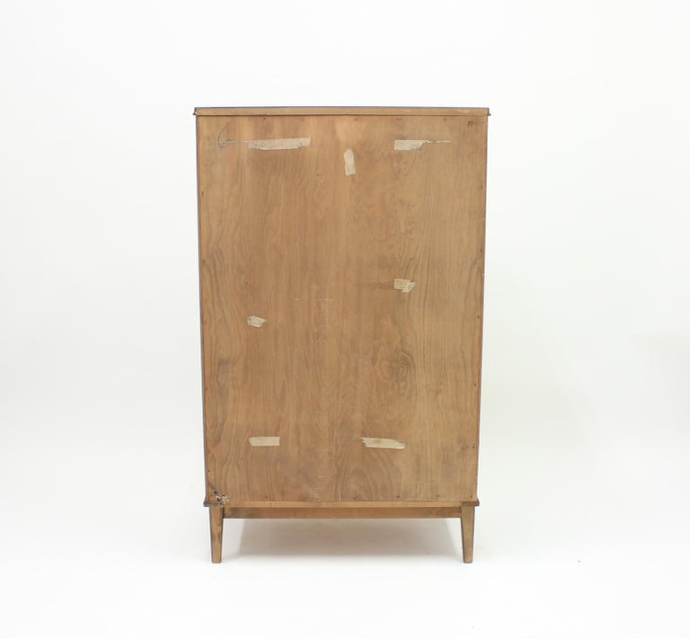 Midcentury Scandinavian Curved Walnut Chest of Drawers, 1950s For Sale 4