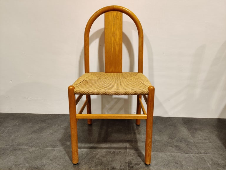 Midcentury Scandinavian Dining Chairs, Set of 4, 1960s For Sale 4
