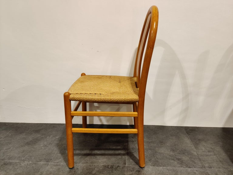 Midcentury Scandinavian Dining Chairs, Set of 4, 1960s For Sale 6