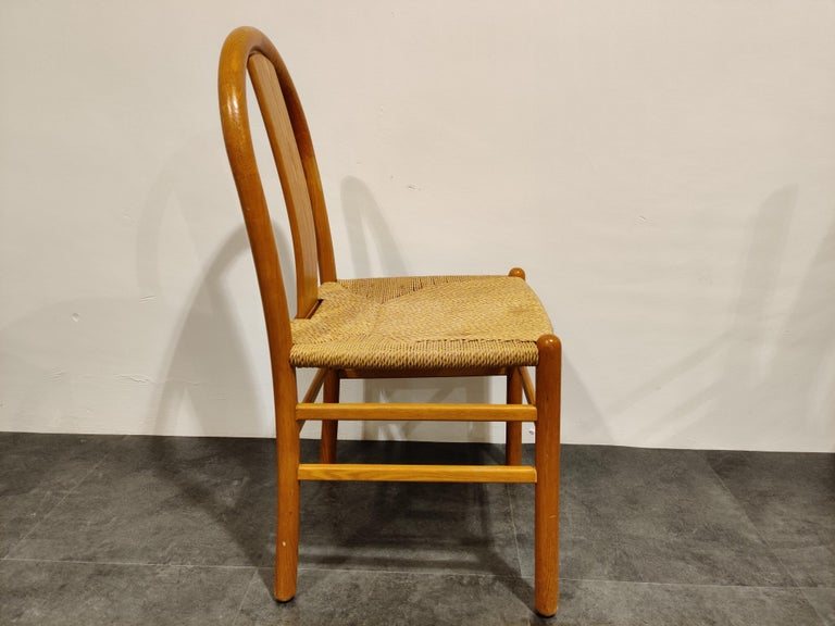 Midcentury Scandinavian Dining Chairs, Set of 4, 1960s For Sale 7