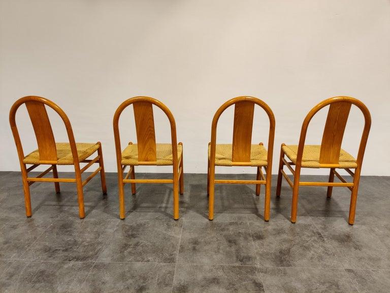 Scandinavian Modern Midcentury Scandinavian Dining Chairs, Set of 4, 1960s For Sale
