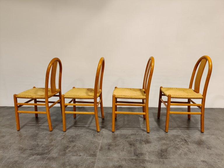 Midcentury Scandinavian Dining Chairs, Set of 4, 1960s In Excellent Condition For Sale In Neervelp, BE
