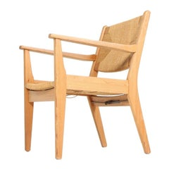 Midcentury Scandinavian Lounge Chair in Pine by Aksel Hansson, 1960s