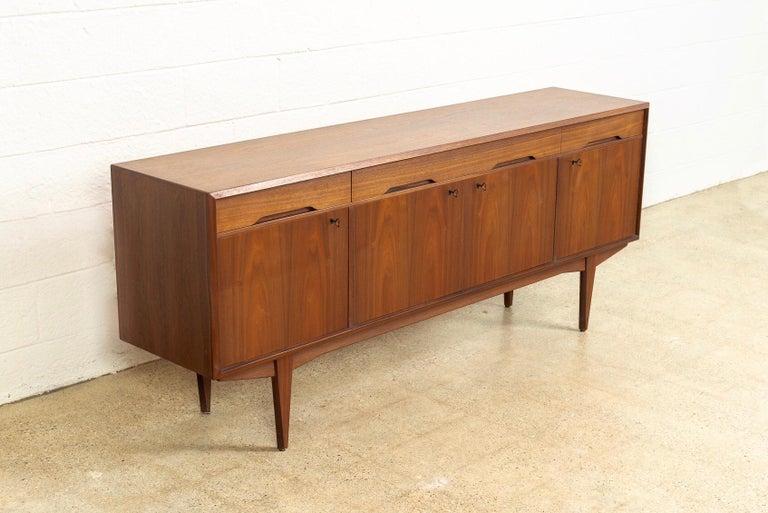 Norwegian Midcentury Scandinavian Modern Alf Aarseth for Walnut Wood Sideboard Credenza For Sale