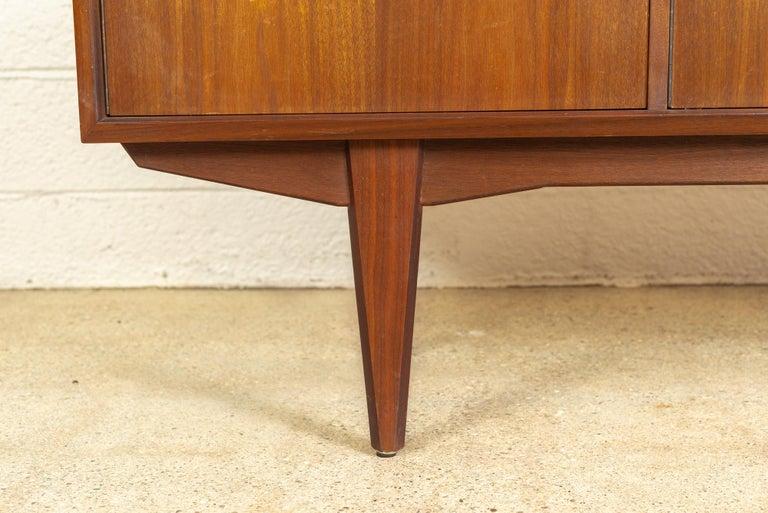 Midcentury Scandinavian Modern Alf Aarseth for Walnut Wood Sideboard Credenza For Sale 2