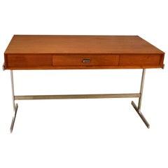 Midcentury Scandinavian Modern Teak Royal Board Trestle Base Desk