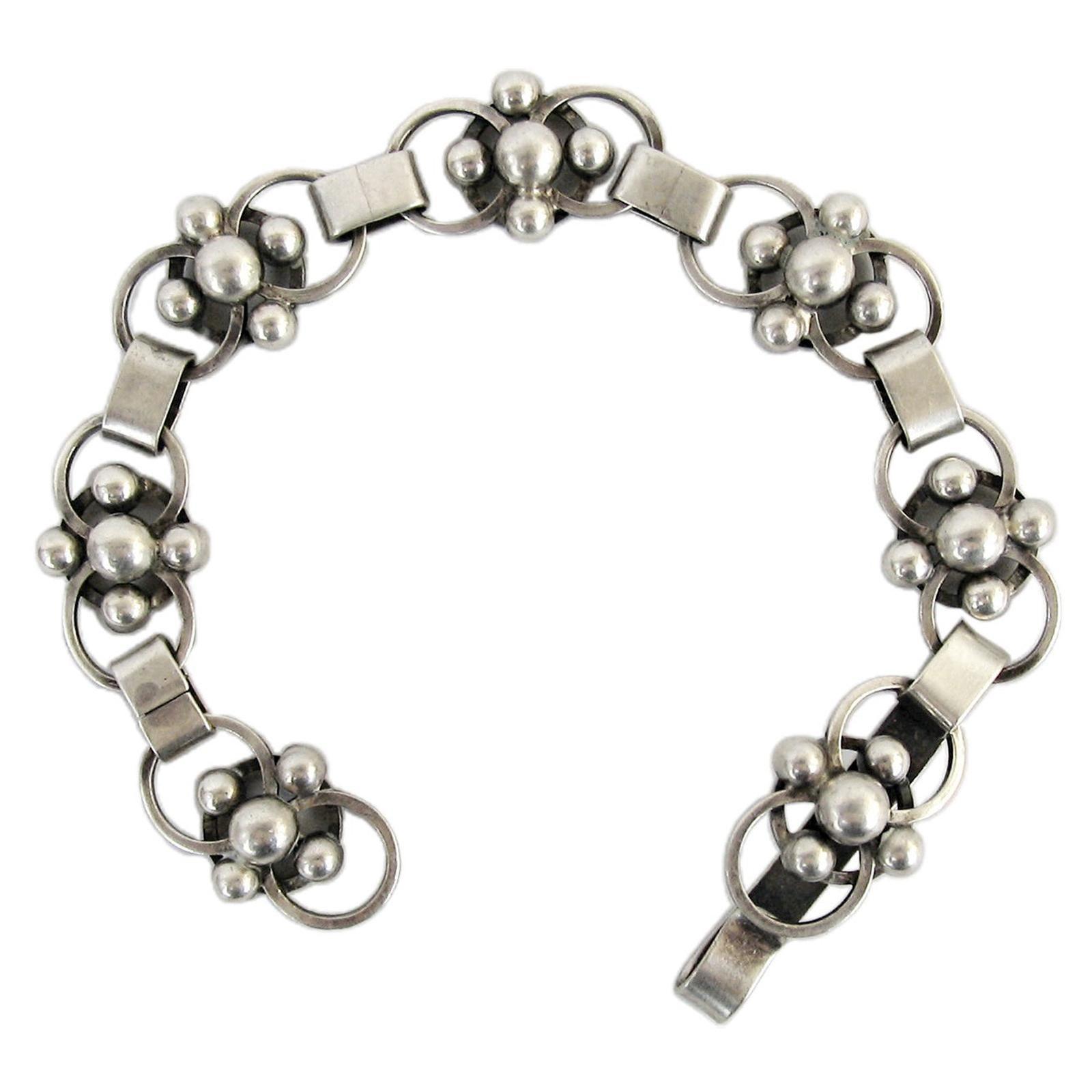 Mid-century Scandinavian Silver Bracelet by Sven Erik Högberg, 1952